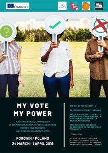 Plakat wymiany My vote, my power